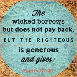 what Bible say about debt