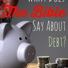 Bible say about debt